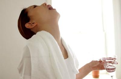 Полоскание горла при недуге